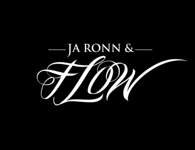 JA RONN & FLOW LOGO black